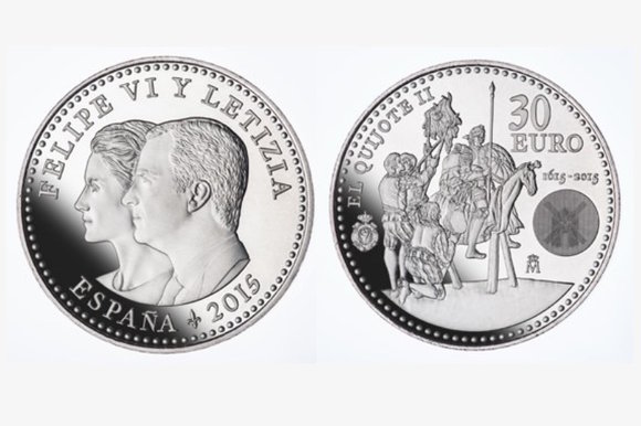 "Monedas homenaje a ""El Quijote"""